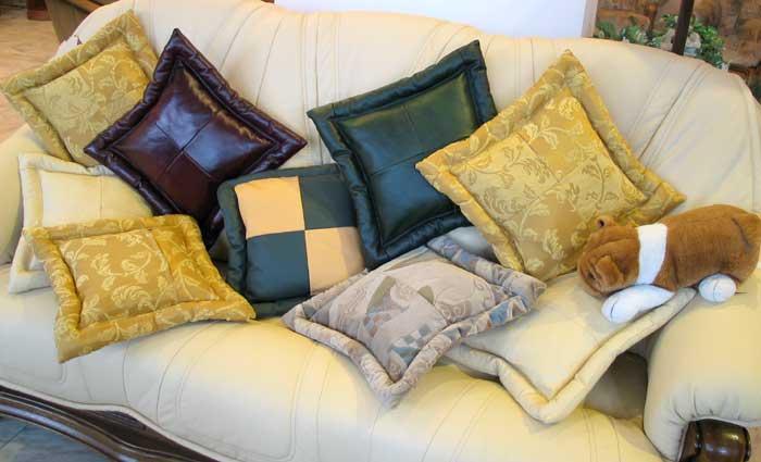Фото подушечки на диван своими руками