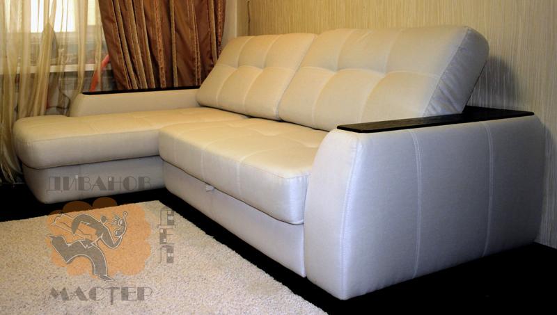 Перетягиваем угловой диван своими руками